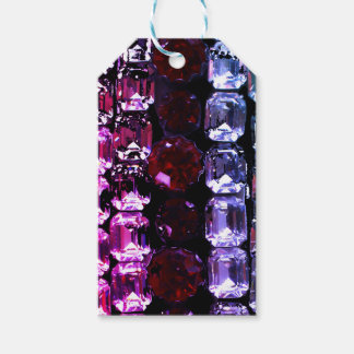Rhinestones - red and purple gift tags