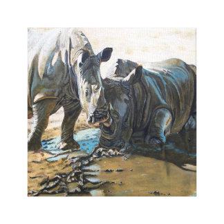 rhino art canvas print