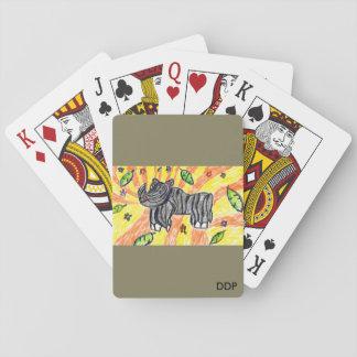 Rhino  art playing cards