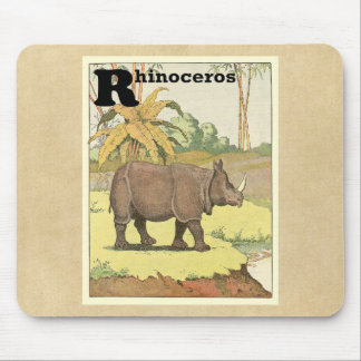Rhino at the Watering Hole Mouse Pad