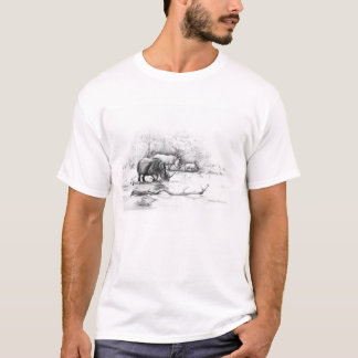Rhino at Waterhole T-Shirt