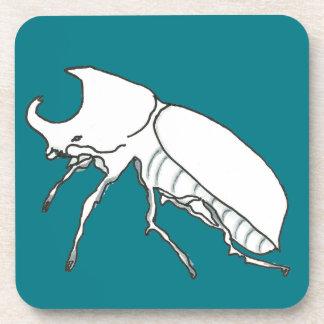 Rhino Beetle Beverage Coaster