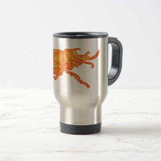 Rhino Beetle coffee Travel Mug