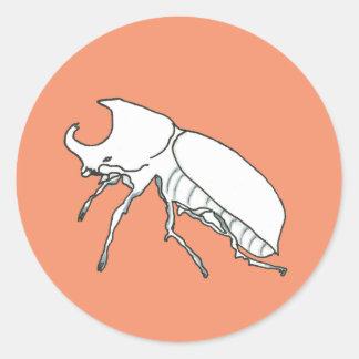 Rhino Beetle Round Sticker