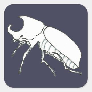 Rhino Beetle Square Sticker