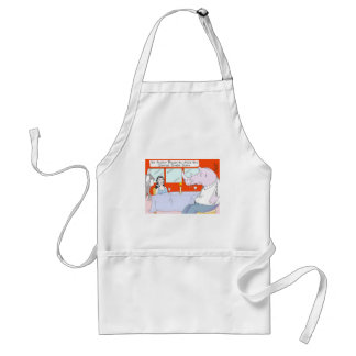 Rhino Blind Date Funny Tees Mugs & Gifts Adult Apron