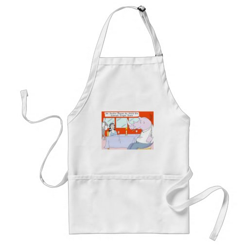 Rhino Blind Date Funny Tees Mugs & Gifts Apron