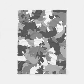 Rhino camouflage fleece blanket