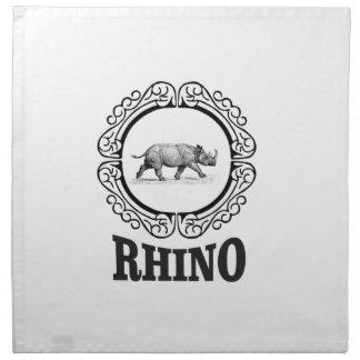 rhino club napkin