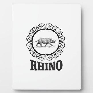 rhino club plaque