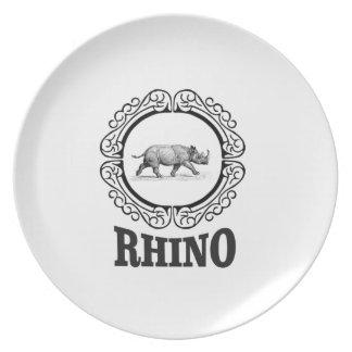 rhino club plate