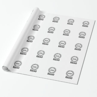 rhino club wrapping paper