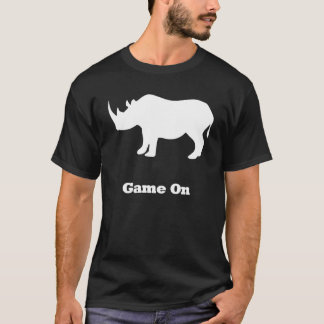 Rhino Game On white T-Shirt