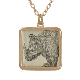 Rhino Gold Plated Necklace