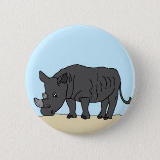 Rhino in the Savanna 6 Cm Round Badge