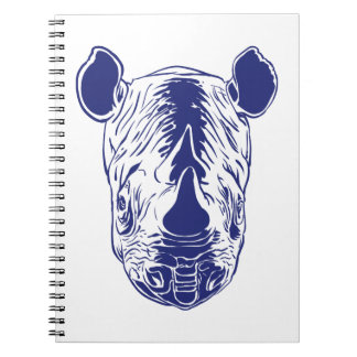 rhino portrait notebook