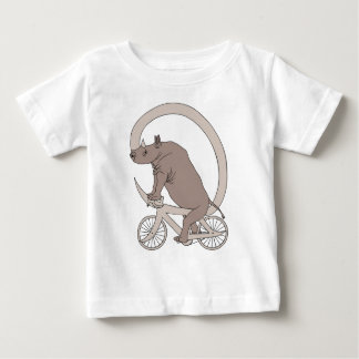 Rhino Riding With Its Horn Bike Baby T-Shirt