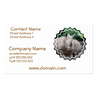 Rhino Romp Pack Of Standard Business Cards