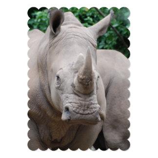Rhino Romp 13 Cm X 18 Cm Invitation Card
