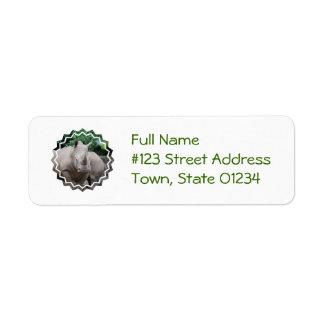 Rhino Romp Return Address Label
