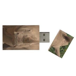 Rhino Romp Wood USB 2.0 Flash Drive