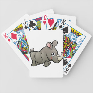 Rhino Safari Animals Cartoon Character Bicycle Playing Cards