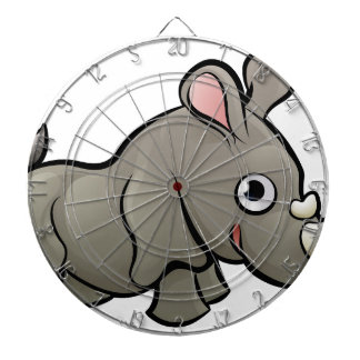 Rhino Safari Animals Cartoon Character Dartboard