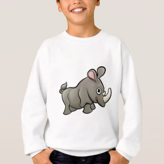 Rhino Safari Animals Cartoon Character Sweatshirt