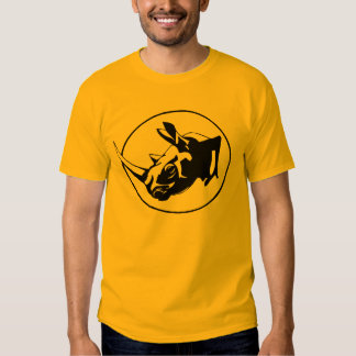 Rhino silhouette design t shirt