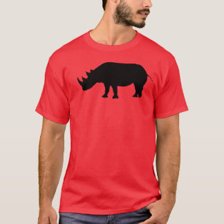 Rhino Silhouette Red T-Shirt