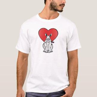 Rhino with Valentine's day heart T-Shirt