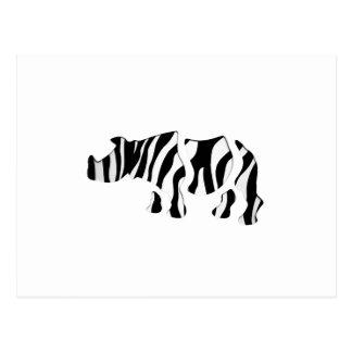 rhino zebra: Wild Mash-Up Postcard