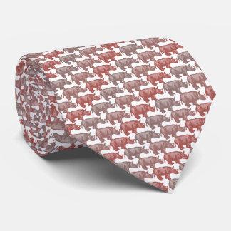 Rhinoceros Armani Red Tie