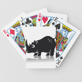 Rhinoceros Bicycle Playing Cards