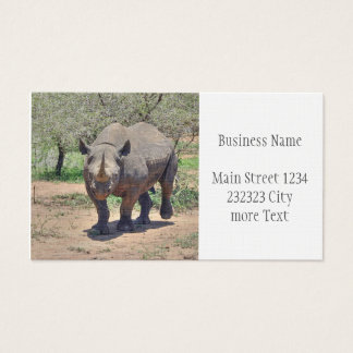 rhinoceros business card