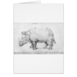 Rhinoceros by Albrecht Durer Card