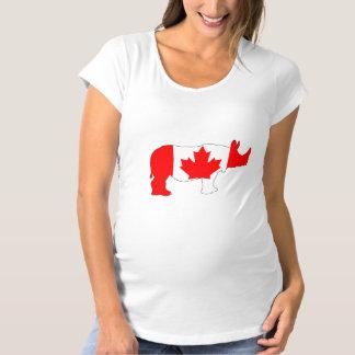 Rhinoceros Canada Maternity T-Shirt