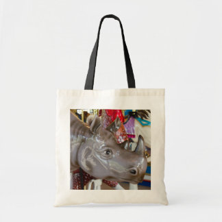Rhinoceros Carousel Ride on Merry-Go-Round Tote Bag