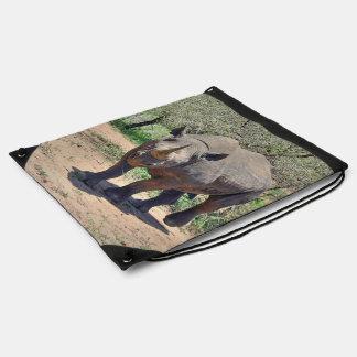 rhinoceros drawstring bag