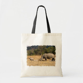 Rhinoceros Family Small Tote Bag