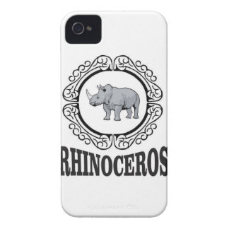 Rhinoceros in the mug Case-Mate iPhone 4 case