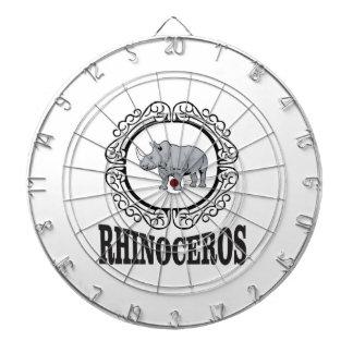 Rhinoceros in the mug dartboard