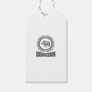 Rhinoceros in the mug gift tags