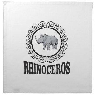 Rhinoceros in the mug napkin