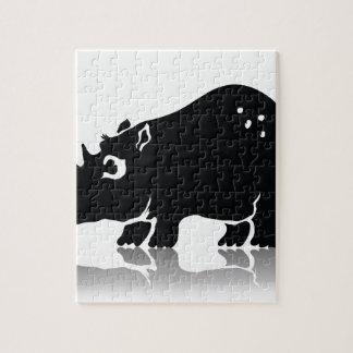 Rhinoceros Jigsaw Puzzle