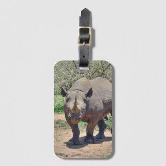 rhinoceros luggage tag