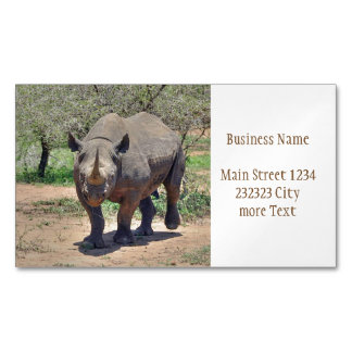 rhinoceros 	Magnetic business card