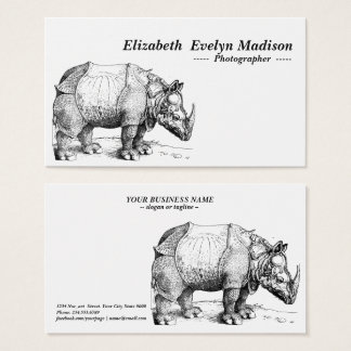 rhinoceros of dürer business card