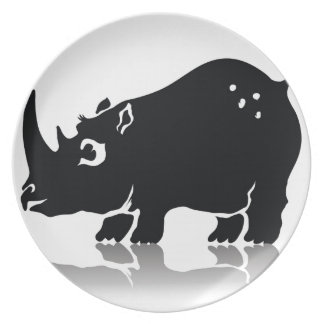 Rhinoceros Plate