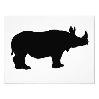 Rhinoceros silhouette art photo
